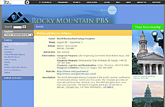 Rocky Mountain PBS Events: Political & World Affairs