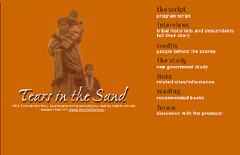 Tears in the Sand: Website by Skoubo Graphics